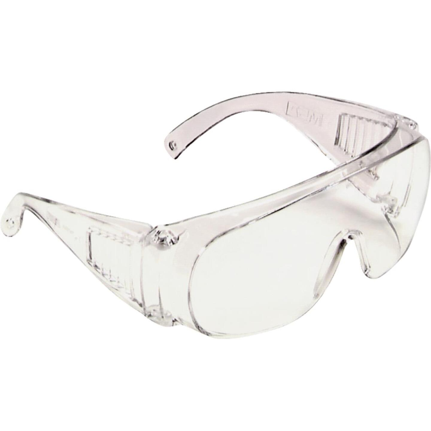 Safety Works Clear Frame Safety Glasses with Anti-Fog Clear Lenses Image 1