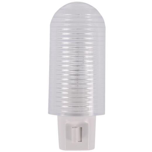 GE White Incandescent Rotating Shade Night Light